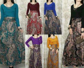 Jual Baju Pesta Dress Batik di Jakarta